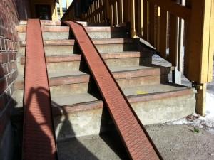 Jeg gikk opp trappa.