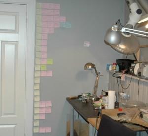 Camilla har tatt veggen i bruargekoder for ulike typer av jobber er lurt.