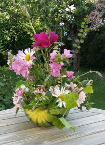 Sanselighet blomsteroppsats